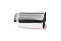 "3.0"" Polished Single Wall Exhaust Tip (2.5"" Weld-On)"