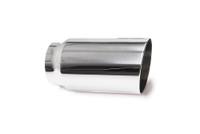 "3.0"" Polished Single Wall Exhaust Tip (2.5"" Weld-On)"