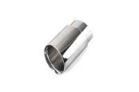 "3.0"" Polished Double Wall Exhaust Tip (2.5"" Clamp-On)"