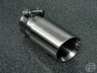 "3.0"" Brushed Double Wall Exhaust Tip (2.5"" Clamp-On)"