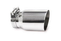 "4.0"" Polished Single Wall Exhaust Tip (3.0"" Clamp-On)"