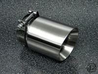 "4.0"" Brushed Double Wall Exhaust Tip (3.0"" Clamp-On)"