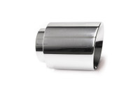 "4.0"" Polished Double Wall Exhaust Tip (3.0"" Weld-On)"