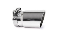 "3.5"" Polished Single Wall Exhaust Tip (3.0"" Clamp-On)"