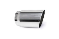 "3.5"" Polished Single Wall Exhaust Tip (3.0"" Weld-On)"