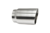 "3.5"" Brushed Single Wall Exhaust Tip (3.0"" Weld-On)"