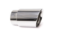 "3.5"" Polished Double Wall Exhaust Tip (3.0"" Weld-On)"