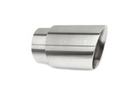 "3.5"" Brushed Double Wall Exhaust Tip (3.0"" Weld-On)"