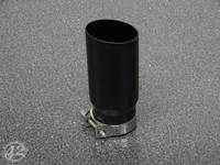 "3.0"" Black Single Wall Exhaust Tip (2.5"" Clamp-On)"