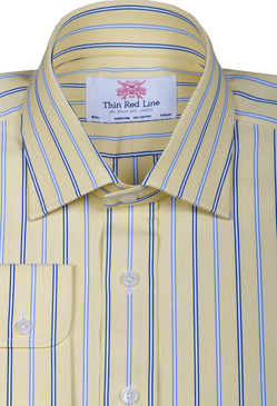 Wales stripe sky yellow(Regular Fit)