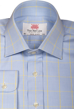 Prince of wales sky yellow(Slim Fit)