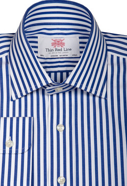 Broad bengal royal blue(Slim Fit)
