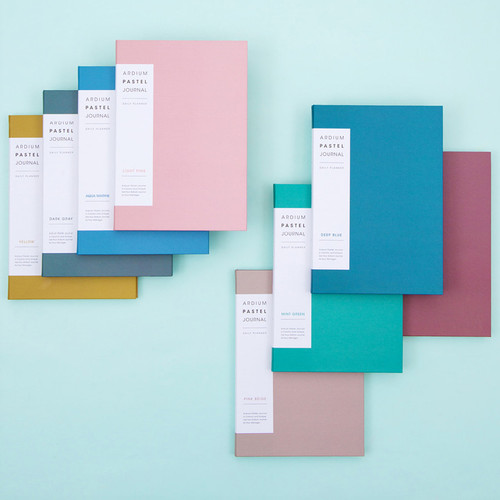 2018 Pastel A5 undated daily journal diary