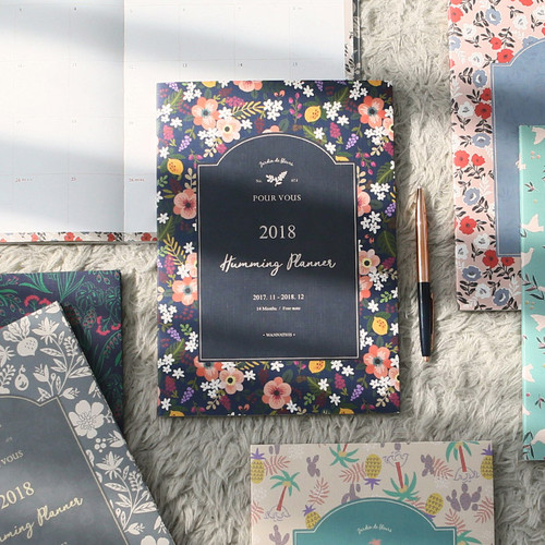 2018 Pour vous humming large dated monthly planner