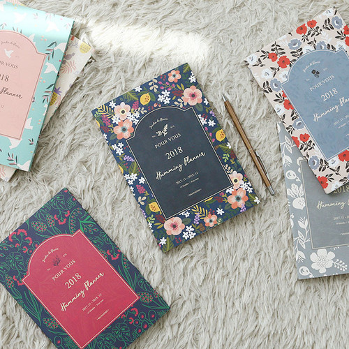 2018 Pour vous humming small dated monthly planner