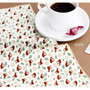 Deer - Vintage pattern cotton handkerchief hankie ver.2