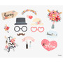 Front - Dailylike Wedding photo stick props set