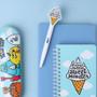 Icecream - Antenna shop Monster black gel pen 0.4mm