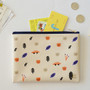 Ivory - In the zoo slim zippered pocket pouch
