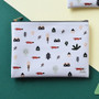 White - In the zoo slim zippered pocket pouch