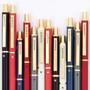 Chromatic metallic black ballpoint pen