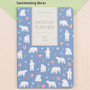 Swimming bear - 2018 Pattern dated monthly planner scheduler