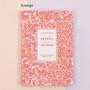 Orange - Arpress pattern undated monthly journal diary