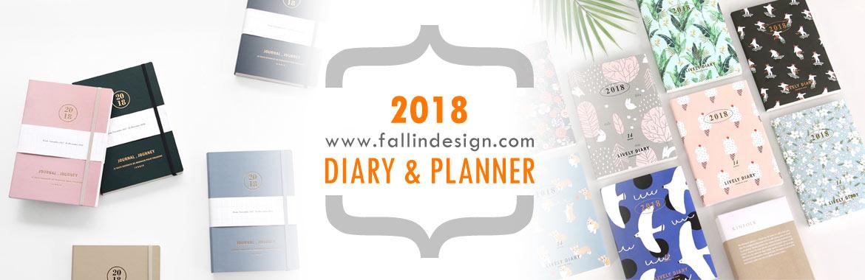 fallindesign 2018 cute diary planner