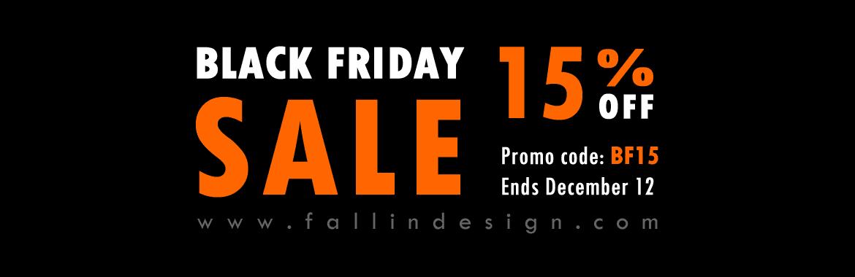 Fallindesign Blackfriday SALE 15% OFF