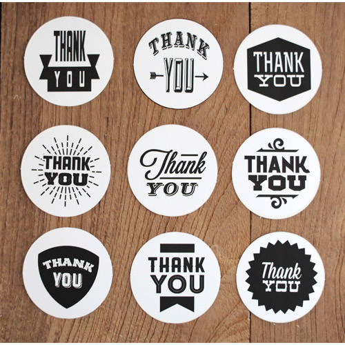Nacoo Thank You Circle Sticker Set Fallindesign Com