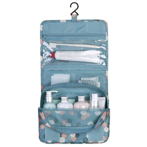 Monopoly Pattern Travel Hanging Toiletry Pouch Bag