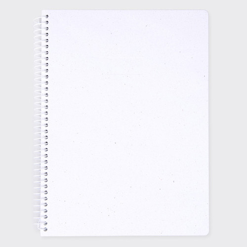 sosomoongoo starry white spiral plain notebook