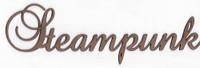 Steampunk - Fancy Chipboard Word