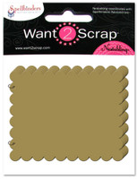 Grand Chipboard Album - Scalloped Rectangles