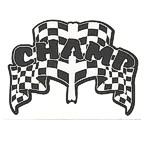CHAMP Racing Flag theme die cut