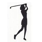 Golfer - Woman - Swung