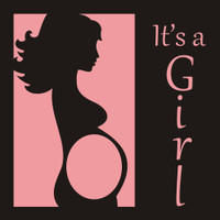 It's a Girl - 12x12 Overlay