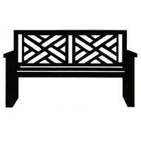 Park Bench - Criss/Cross design