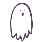 Ghost - Single white with purple aura