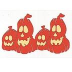 Row of 4 Pumpkins - Large