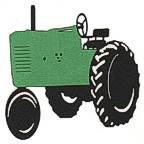 Green Tractor - 3 Color Design!