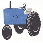 Blue Tractor - 3 Color Design!