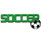 Soccer Title Strip - 3 Color with Green