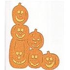 Halloween Pumpkin Stack - GLITTER!