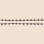 "Barbed Wire - Package of 2 - 11"" long Title Strip"