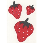 Strawberries - Package of 3 sizes  - FLOCKED!