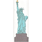 """Statue of Liberty-3 color 10 1/2"""" high!"""