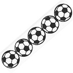 Soccer Ball Title Strip Verticle