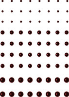 72 Count - Cranberry Pearls - Self Adhesive