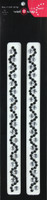 Beautiful Bling Strips - Black Wave Rhinestones/Silver Pair